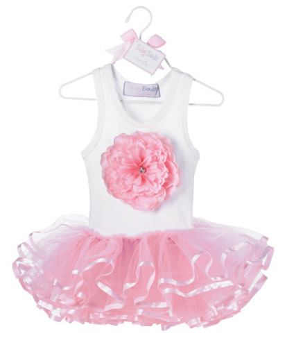 Mud Pie Pink Buds Tutu Dress