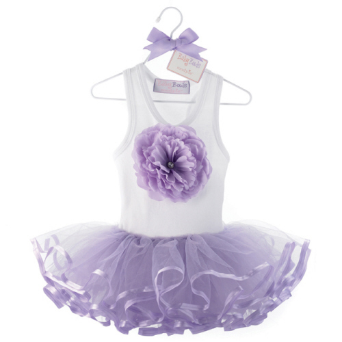 Mud Pie Purple Buds Tutu Dress