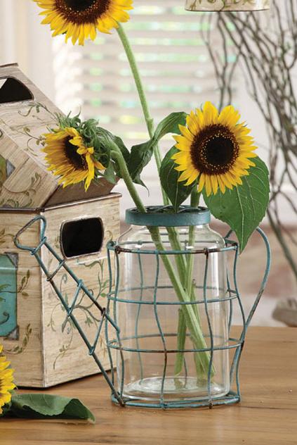 Metal Watering Can Vase