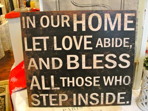Love Abides Sign