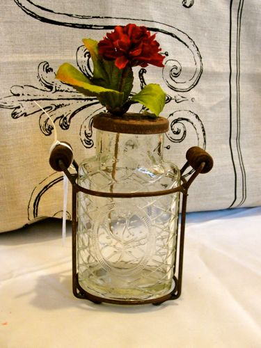 "Medium ""Vintage"" Glass Flower Jar"