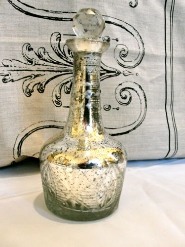 Mercury Glass Decanter with Glass Stopper